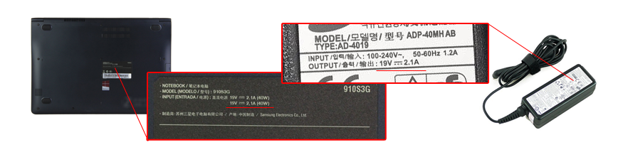 check the power specs of your Samsung NP540U3C charger
